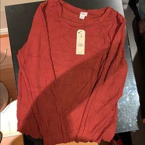 NWT Rust color garage long sleeve shirt